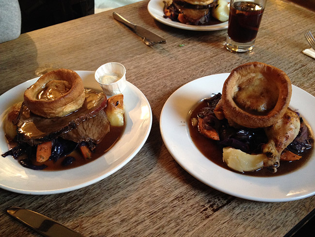 sunday roast en covent garden