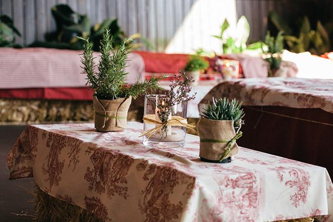 decoración campestre boda