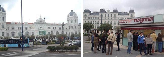 El Sardinero en Santander - casino y helados Regma