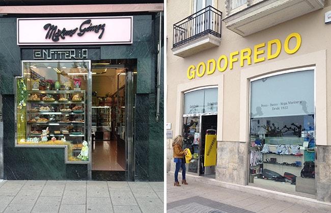 Tiendas míticas de Santander - confitería Máximo Gómez y Godofredo