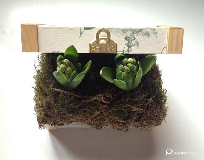 manualidad: caja decoupage con flores