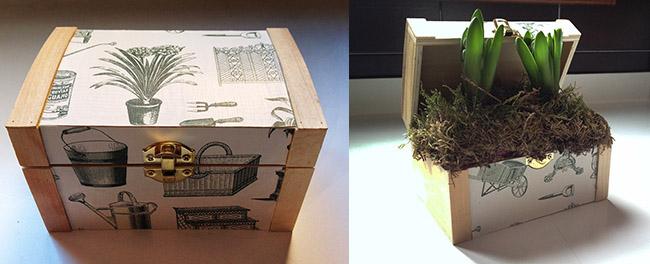 caja de flores DIY