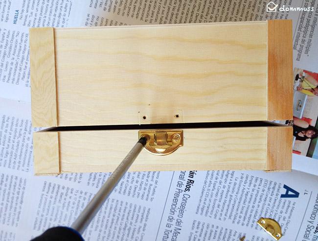 preparar caja para manualidad