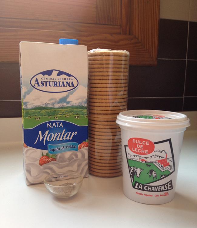ingredientes tarta helada de dulce de leche