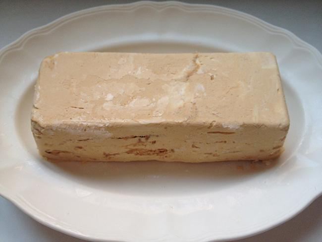 tarta helada de dulce de leche