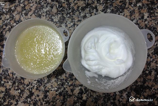 Claras montadas para limón helado