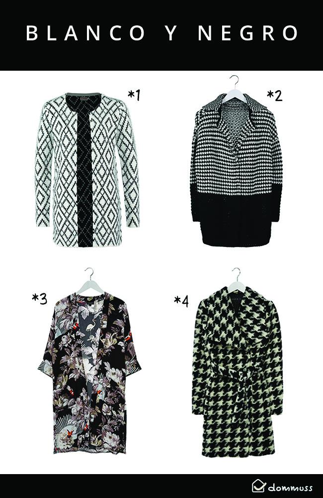 chaquetas y abrigos Black & White