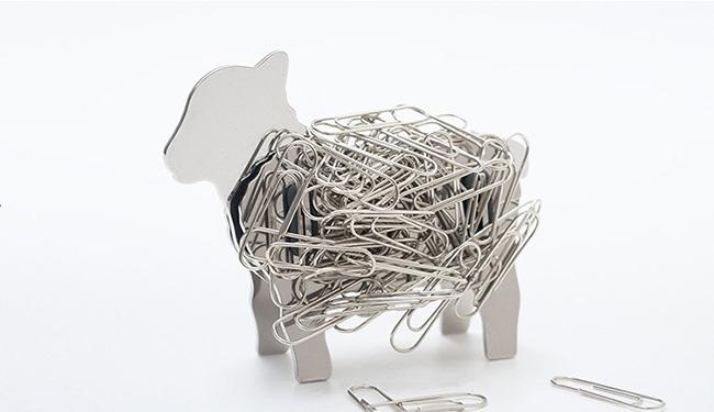 Portaclips con forma de oveja