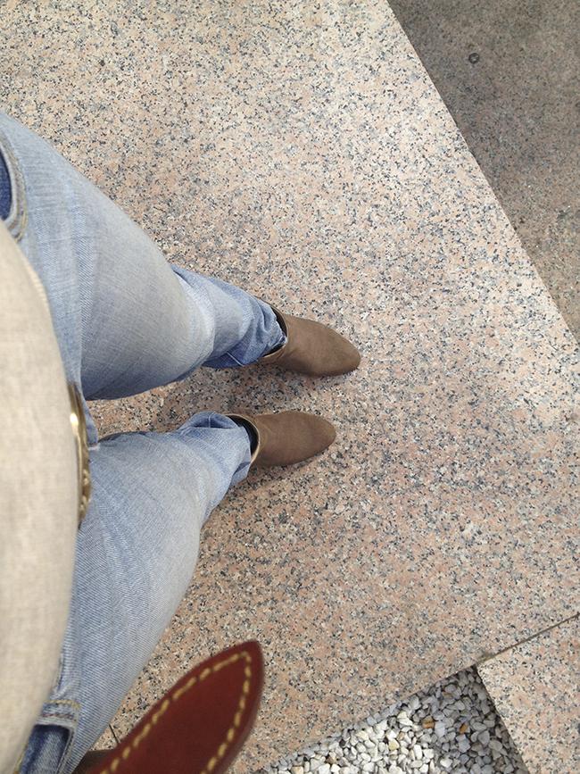 botas de ante limpias