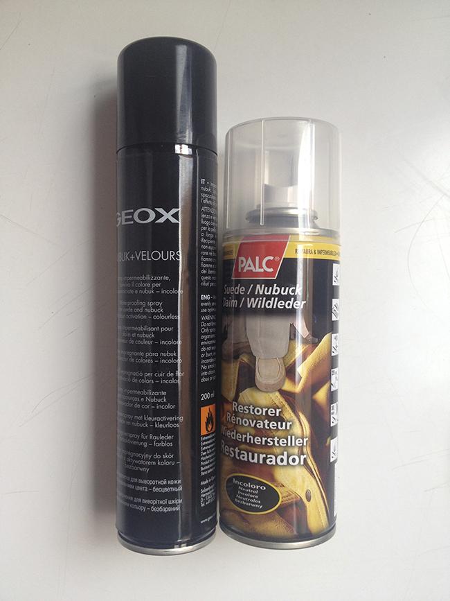 Sprays para cuidar el ante