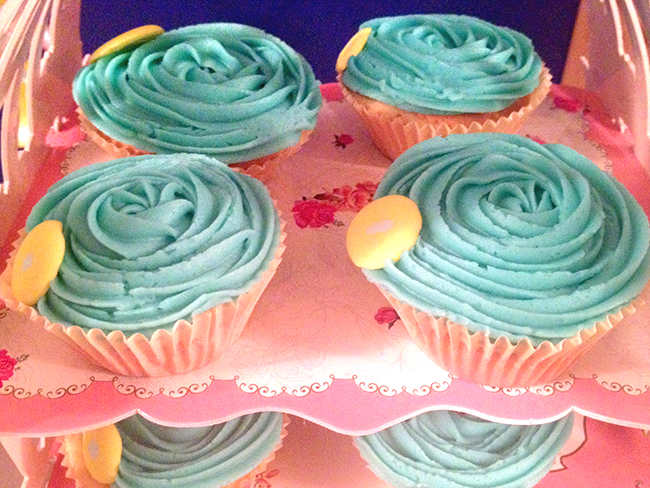 cupcakes merienda babyshower