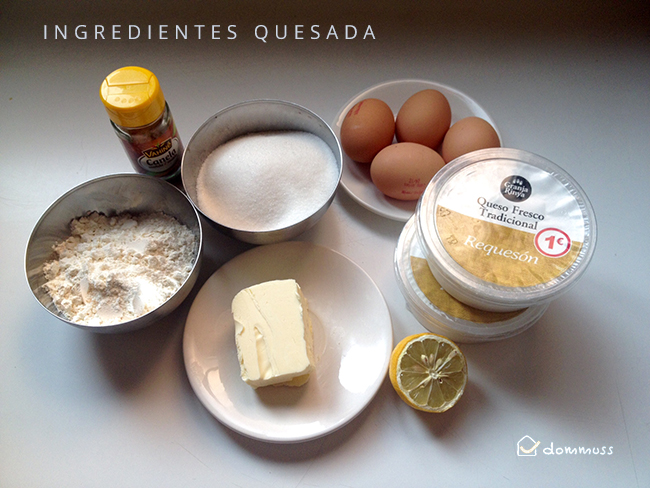 Ingredientes de la quesada pasiega