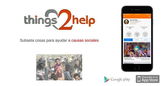 Things2Help. App para vender cosas de segunda mano