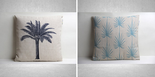 cojines palmeras