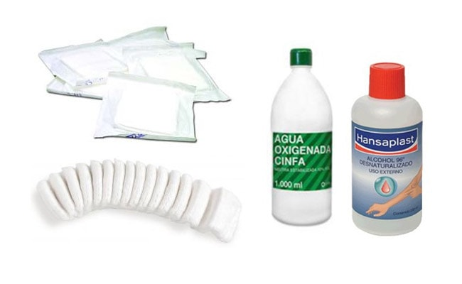 botiquín de casa: material primeros auxilios