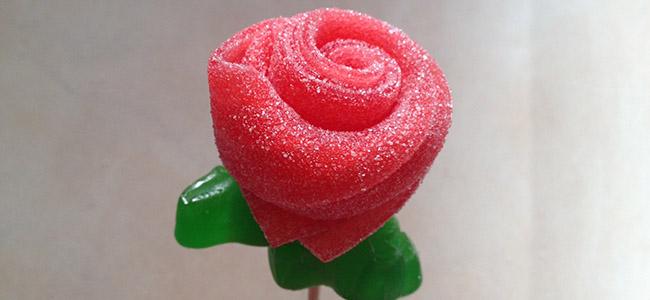 Rosa con chuches