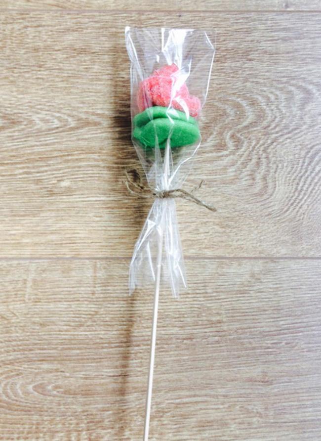 Rosa de chuches envuelta