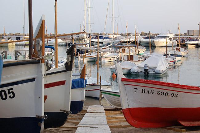 Barcas en Llafranc