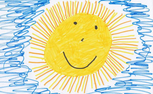 sol dibujado