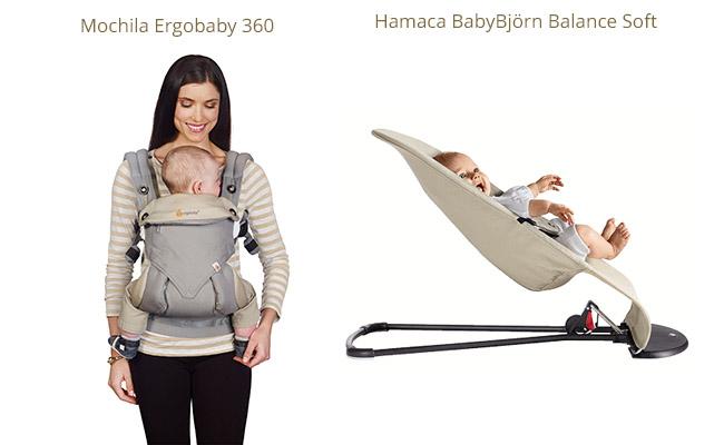 Mochila Ergobaby 360 y hamaca BabyBjörn Balance Soft