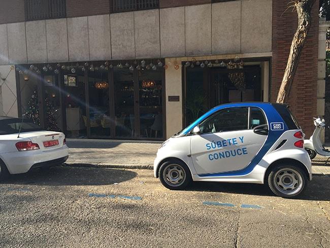 car2go - coche eléctrico de alquiler Madrid