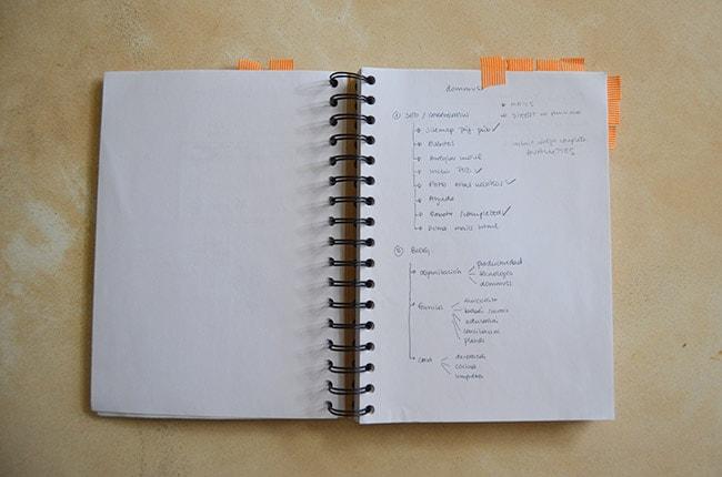 Marcar páginas con washi tape