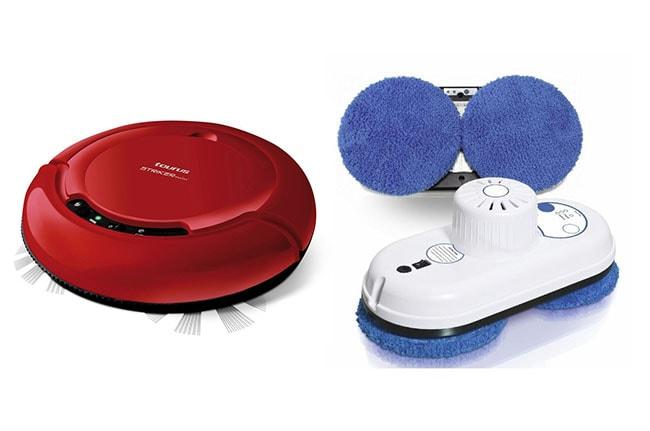 Robots para casa, limpieza: aspirador y limpiacristales
