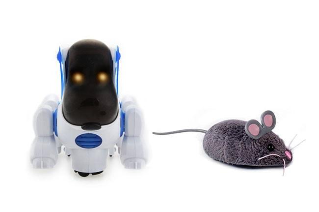 Robots para casa, mascotas: perro y ratón