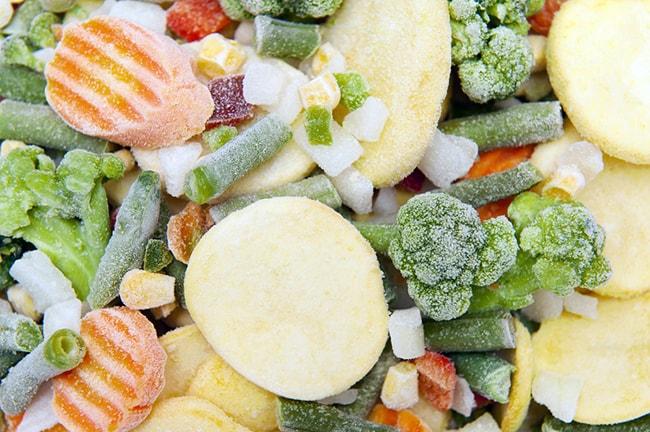 Cuanto duran los alimentos en le congelador, verduras congeladas