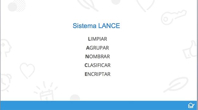 Sistema LANCE para organizar el ordenador