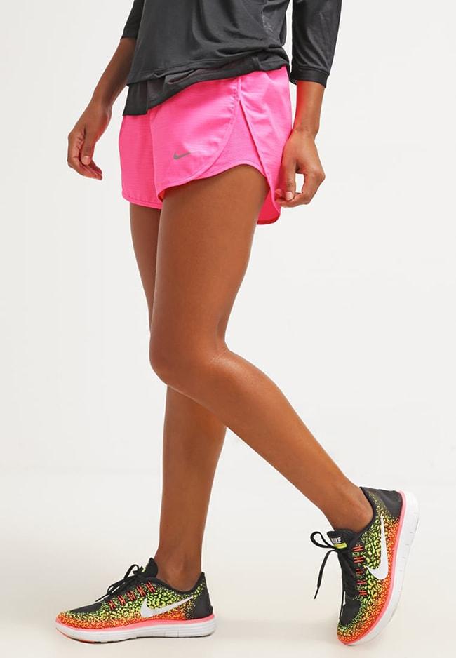 pantalon rosa corto para entrenar