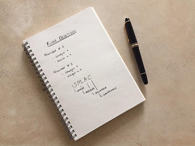 método de organización personal,fijar objetivos