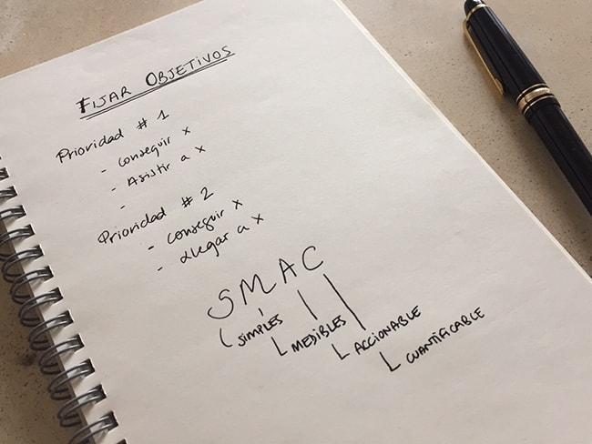 fijar objetivos - objetivos SMAC