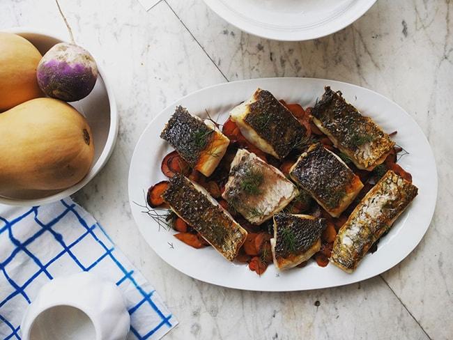 cantidades de alimentos pescado