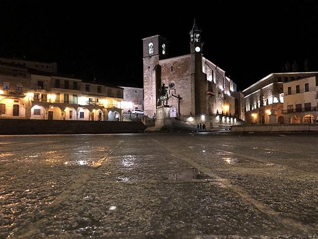 Plaza Mayor de Trujillo de noche