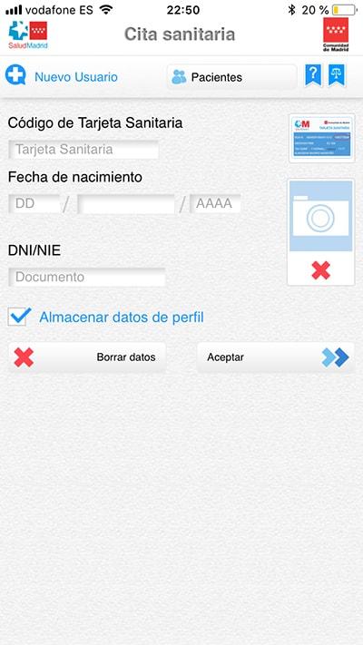 pedir cita en el centro de salud con esta app - usuario