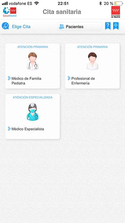 pedir cita en el centro de salud con esta app - médicos