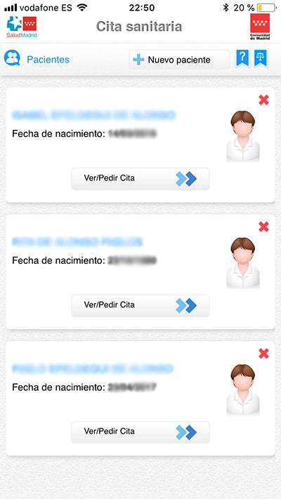 pedir cita en el centro de salud con esta app - pacientes