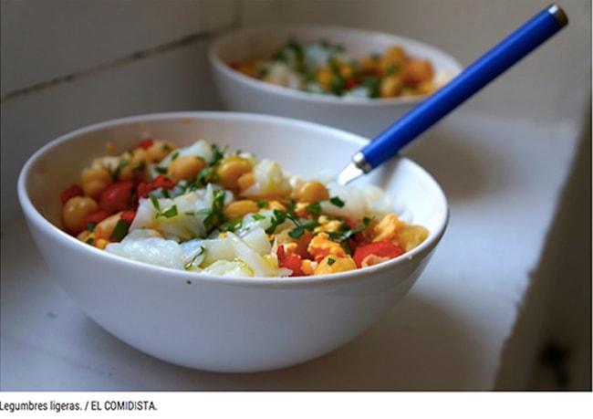 recetas de legumbres para el verano - ensalada de garbanzos