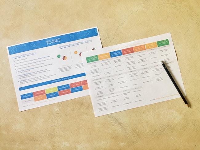 como hacer un menu semanal familiar