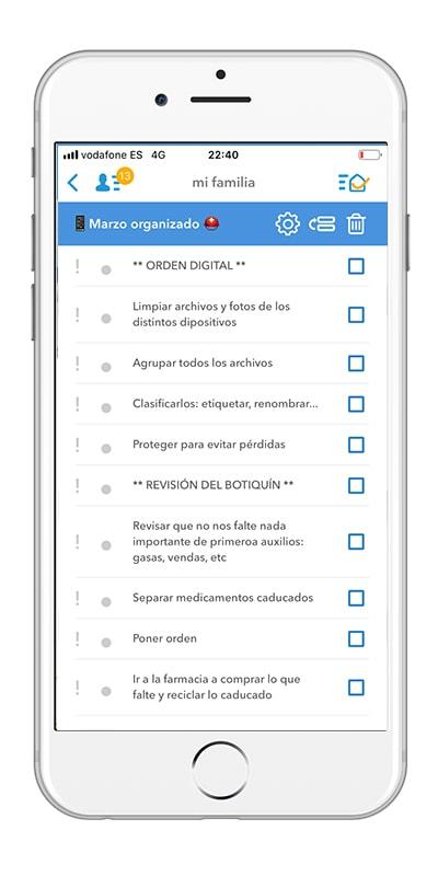 dommuss app - organización familiar y doméstica para marzo