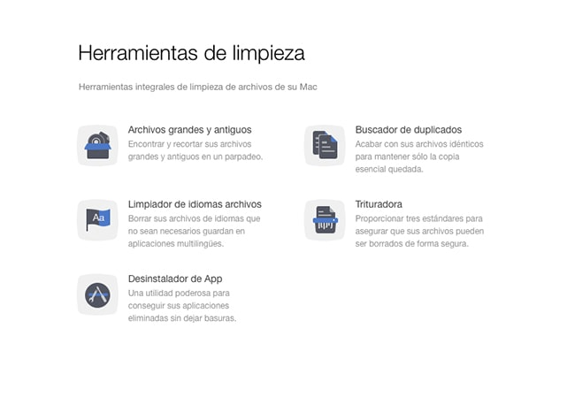 Limpiar archivos digitales - Mac Clean